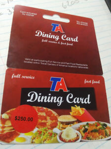250.00 GIFT CARD FOR 150.00
