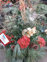 Outdoor or indoor natural Christmas greenery decoration