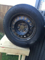 Steel wheels and Winter Tires 215 70 R16