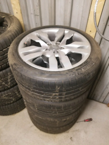19x9 Audi RS6 OEM alloy rims with tires
