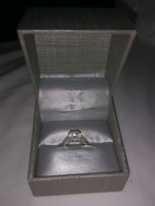 Real Sterling silver diamond ring.