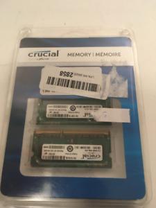Crucial 8GB RAM Kit, 1600MHz 204-pin, 2 x 4GB