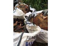 3 bulk bags of old cedar shingles - superb kindling