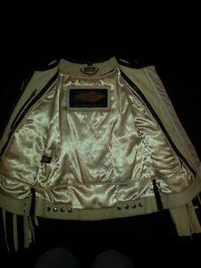 Manteau de cuir blanc pour moto! Saint-Hyacinthe Québec image 3