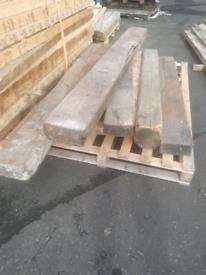 Timber sleepers.