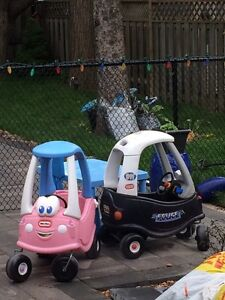 Little tikes  boy and girl cars