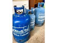 3 Calor Gas Bottles 1 Full