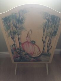 Shabby chic fire guard antique