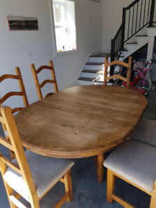 Dining Table- Solid Wood & 6 Chairs