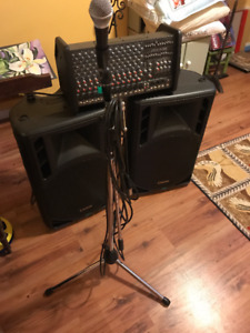 Carvin PA System with speakers