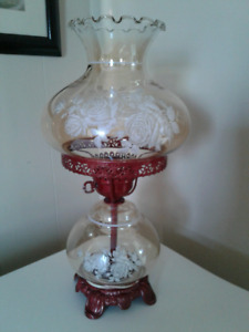 Antique Victorian Glass Lamp