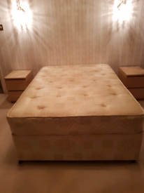 DOUBLE BED WITH 2 DRAWERS AND MATRESS