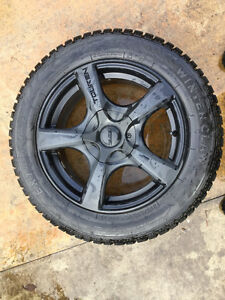 4-High Performance Studded Snow Tires W/Touren Rims North Shore Greater Vancouver Area image 5