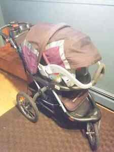 Baby Trend Expedition EXL Car Seat base and Stroller.