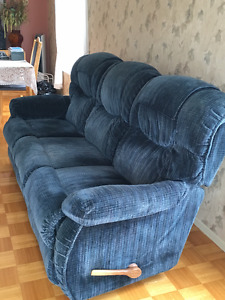 Divan 3 places + fauteuil inclinable El-Ran