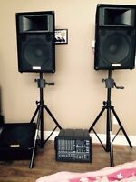 PA system Yamaha 6 channel one year old