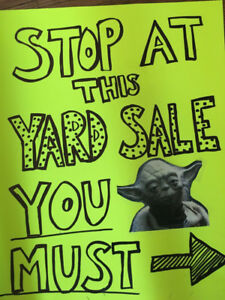 Yard Sale- Saturday Mat 5th- 29 Newcombe Drive