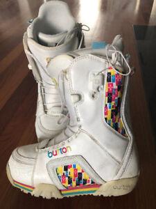 Women Burton Emerald Snowboard Boots, US size 6.5