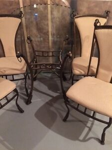 5 piece wrought iron dining table.