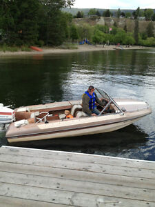 Glascon 15.5 ft boat with trailer