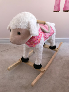 Rocking Plush Lamb