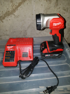 Milwaukee multi charger, big battery and light