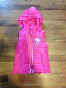 Girls size 6 Pink Sleeveless Hello Kitty Jacket