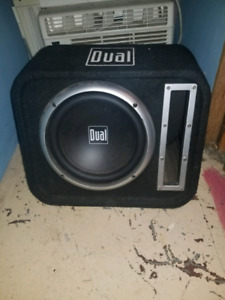 10 Inch 'Dual'  Subwoofer w/ vented box