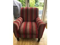 Next Armchair / Occasional Chair - Red/Brown