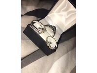 Pandora princess ring , love , always in my heart rings and heart necklace