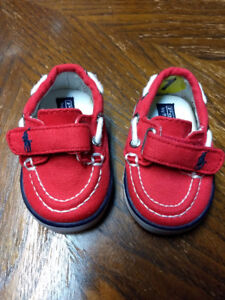 Red Polo Shoes Size 1