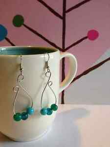 Silver plated earring with beads London Ontario image 1