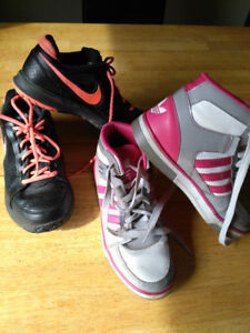 Rening shoes Nike vapor air gr 8 et Adidas gr 5