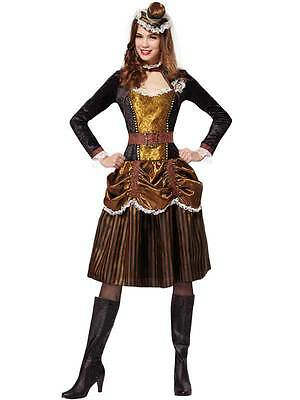 Ladies Steampunk Lady Costume Womens 20s Victorian Sci-Fi Fancy Dress Dickensian](Sci Fi Womens Costumes)