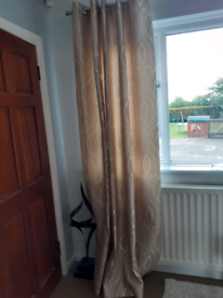 Lovely curtains cream /beige pattetned