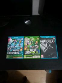 Nintendo Wii U 3 GAMES - Including RARE Super Luigi Bros Wii U