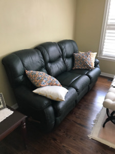 La Z Boy Leather Reclining Couch Chair