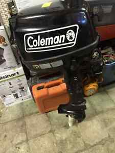 "Selling 2014 Coleman Four Stroke 5 HP Outboard Motor, 15"" Shaft"