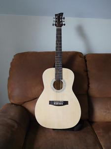 Guitar acoustique avec capo et strap