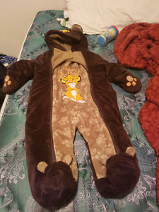 Lion King snow suit and turtles sippie cups