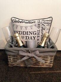 Brand new Wedding day gift basket's