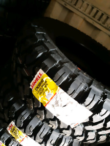 New LT33X12.5R17 MUD WINTER RATED TIRES