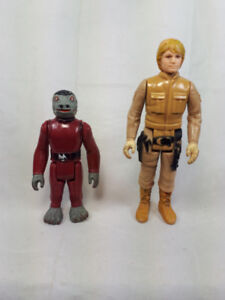 Vintage Star Wars figures (luke Skywalker, Snaggletooth)