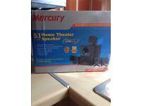 Mercury 5.1 multimedia speakers £40 ovno