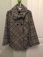 Black & White Cleo Coat - Excellent Condition!