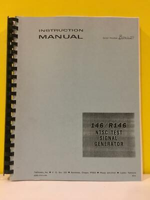 Tektronix 070-1111-00 146/R146 NTSC Test Signal Generator Instruction Manual Ntsc-test-signal-generator