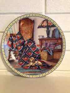 Cocker spaniel and Quilt decorative plate