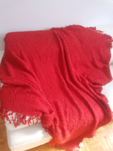 Red throw