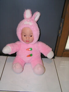 DOLL IN BUNNY SNOW SUIT