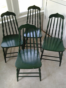 SET OF FOUR BASS RIVER CHAIRS